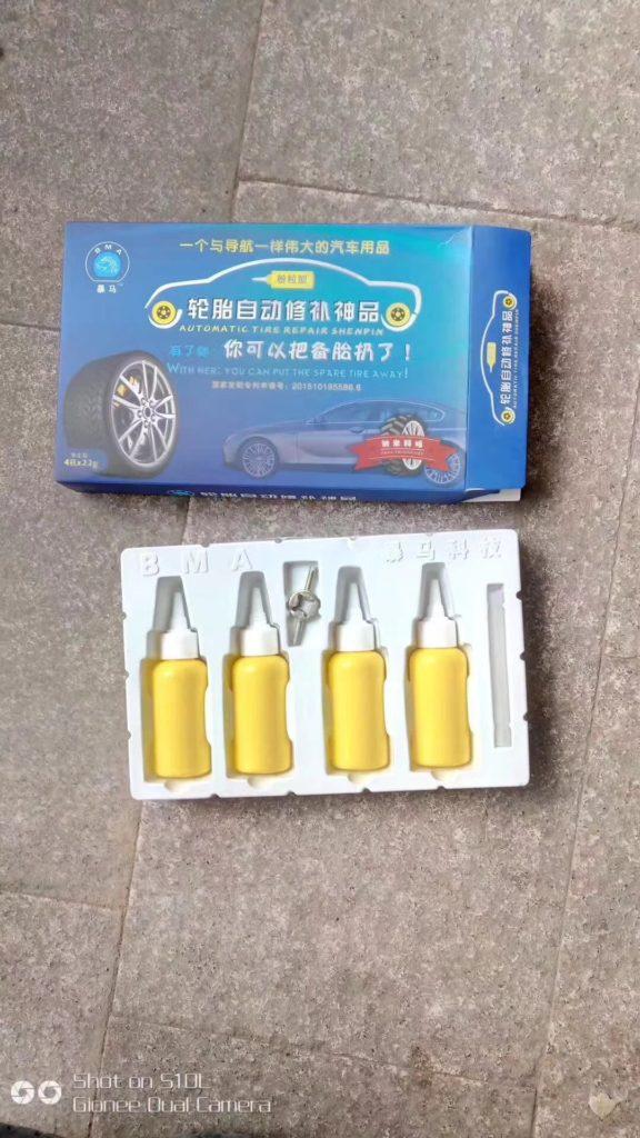 Tire repairing liquid