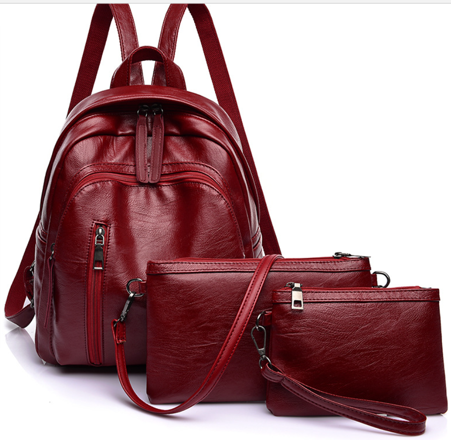 woman's backpack of 3